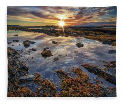 Golden Hour At Pott's Point Fleece Blanket