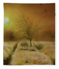 Golden Hour Fleece Blanket
