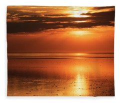 Golden Light Fleece Blanket