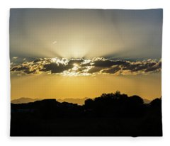 Golden Lining Fleece Blanket