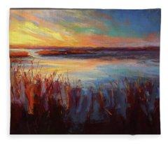 Golden Marsh Fleece Blanket