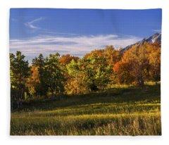 Golden Meadow Fleece Blanket