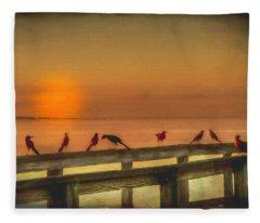 Golden Moment Fleece Blanket