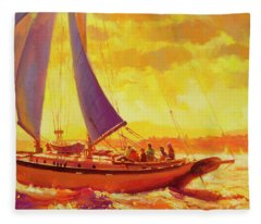 Golden Opportunity Fleece Blanket