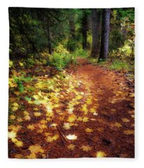 Golden Path Fleece Blanket