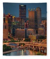 Golden Pittsburgh Fleece Blanket