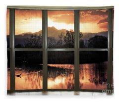Golden Ponds Bay Window View Fleece Blanket