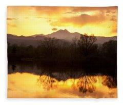 Golden Ponds Longmont Colorado Fleece Blanket