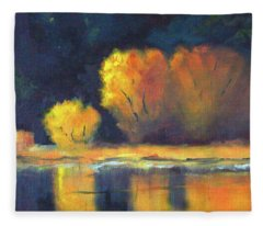 Golden Reflection Fleece Blanket