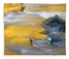 Golden Refuge Fleece Blanket