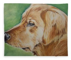 Golden Retreiver 2 Fleece Blanket