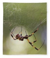 Golden-silk Spider Fleece Blanket