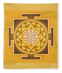 Golden Sri Yantra - The Original Fleece Blanket