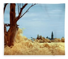 Golden Summer Fleece Blanket