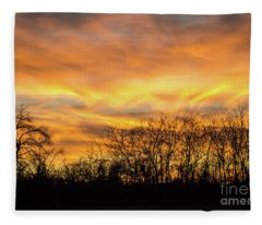 Golden Sunset Fleece Blanket
