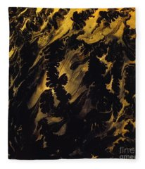 Golden Swirls Fleece Blanket