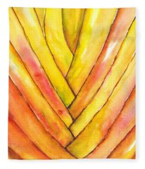 Golden Travelers Palm Trunk Fleece Blanket