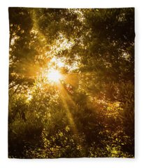 Golden Treetops Fleece Blanket