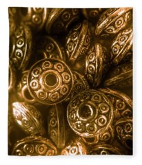 Golden Ufos From Egyptology  Fleece Blanket