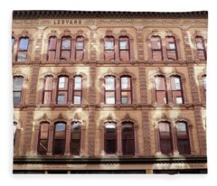 Golden Wall Of Windows And Architecture Light In Grand Rapids Michigan Fleece Blanket