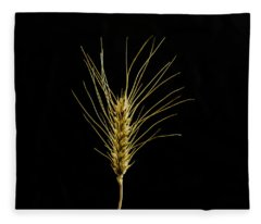 Golden Wheat Fleece Blanket