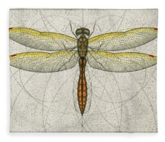 Golden Winged Skimmer Fleece Blanket