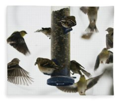 Goldfinch Frenzy Fleece Blanket
