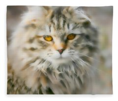 Goldie Golden Eyes Fleece Blanket