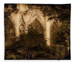 Paris, France - Goldoni In The Park Fleece Blanket