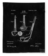 Golf Club From 1900 - Black Fleece Blanket