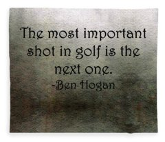 Golf Quote Fleece Blanket