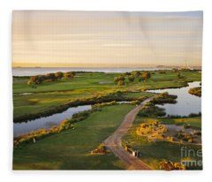 Golfing At The Gong II Fleece Blanket