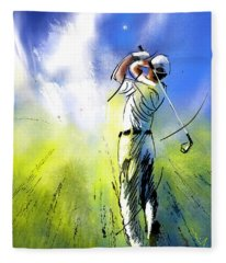 Golfscape 01 Fleece Blanket