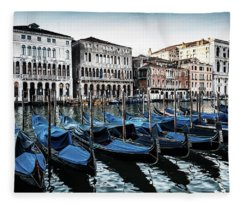 Gondolas Fleece Blanket