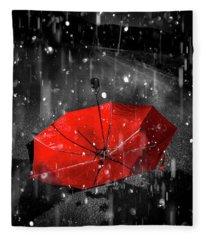 Gone With The Rain Fleece Blanket