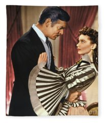 Gone With The Wind - 1939 - Completely Retouched In Color Fleece Blanket