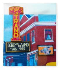 Gone With The Wind At The Strand Fleece Blanket
