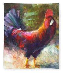 Gonzalez The Rooster Fleece Blanket
