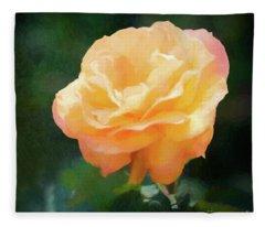 Good As Gold Painted Rose Fleece Blanket