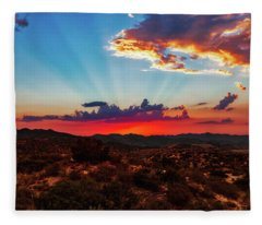 Fleece Blanket featuring the photograph Good Evening Arizona by Rick Furmanek