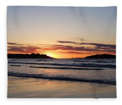 Good Harbor Beach At Sunrise Gloucester Ma Fleece Blanket