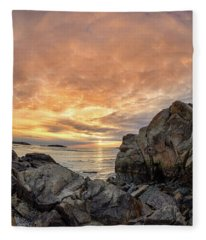 Good Harbor, Rock View Vertical Fleece Blanket