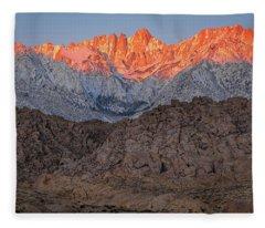 Good Morning Mount Whitney Fleece Blanket