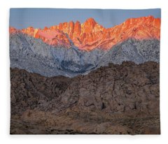 Good Morning Mount Whitney Fleece Blanket