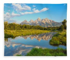 Good Morning Tetons Fleece Blanket