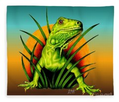 Good Morning World Fleece Blanket