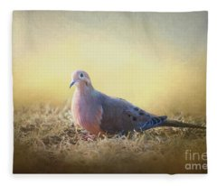 Good Mourning Dove Fleece Blanket