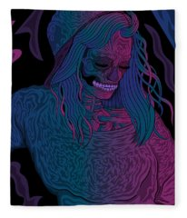 Good Vibes Skelegirl Fleece Blanket