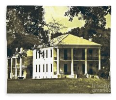 Goodwood Plantation Baton Rouge Circa 1852 Fleece Blanket