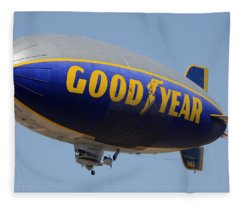 Goodyear Blimp Spirit Of Innovation Goodyear Arizona September 13 2015 Fleece Blanket